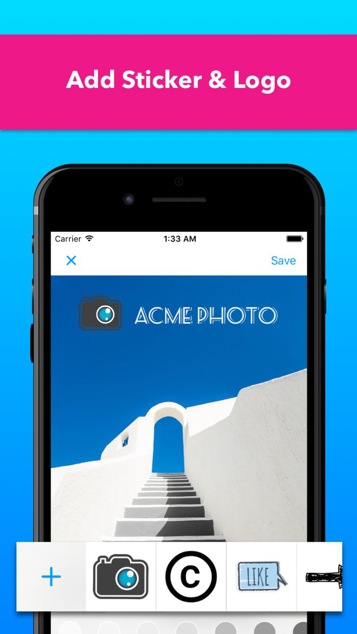 Watermark Photos & Copyright Screenshot