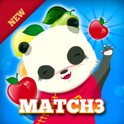 Panda Fruit Harvest Free Match 3