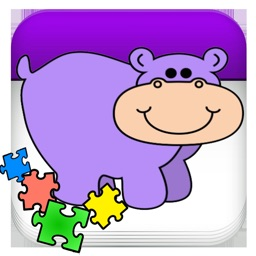 Dog Hippo Animals Jigsaw for young kids