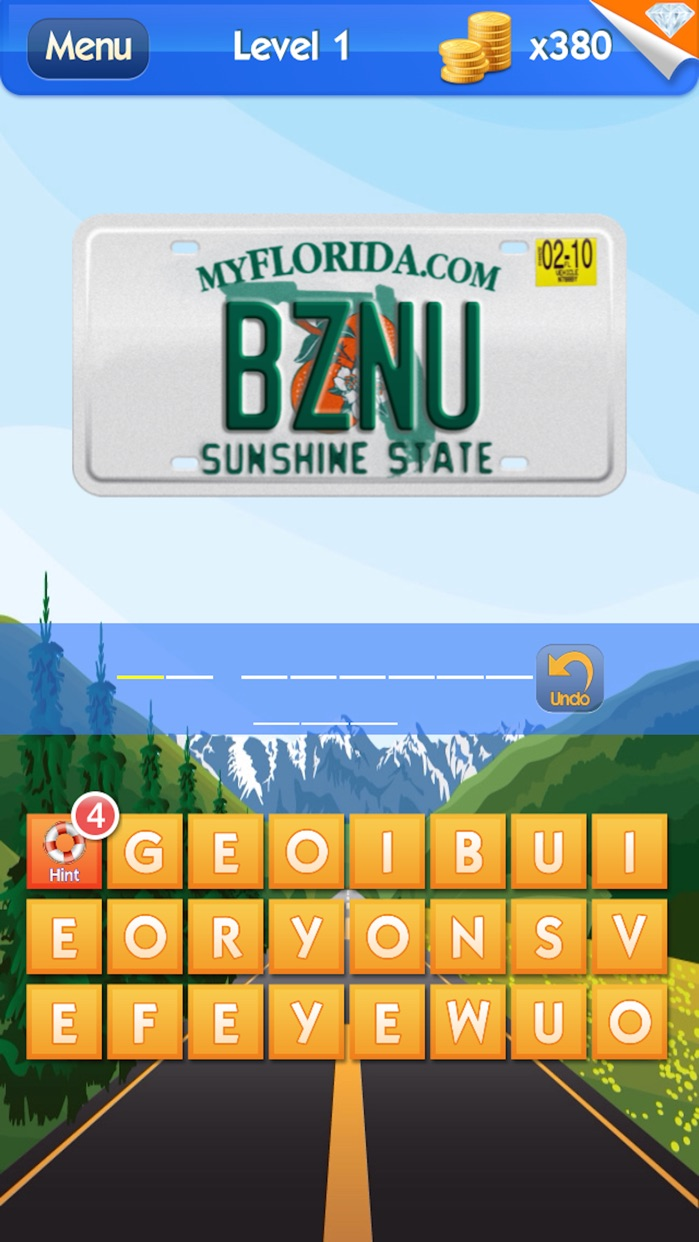 What's the Plate? - License Plate Game Screenshot