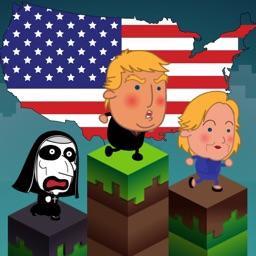 Trumpoline - Trump Hillary Jump