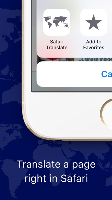 Web Page Translator for Safari Screenshot 1