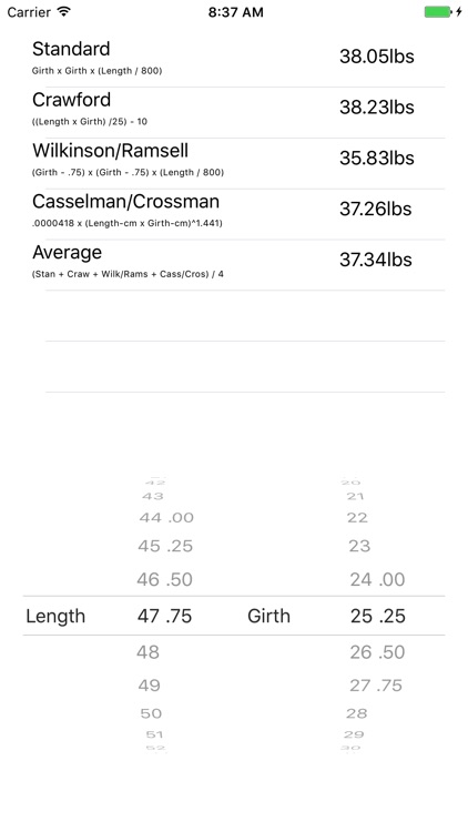 Muskie Weight Calculator