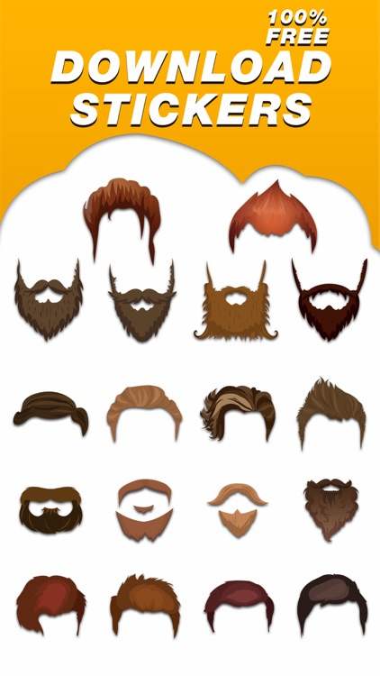 Classic Hipsters Mustache Sticker Pack