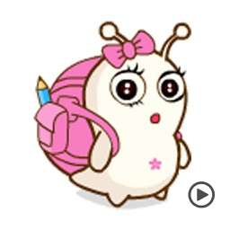 Baby Snail Animated Stickers