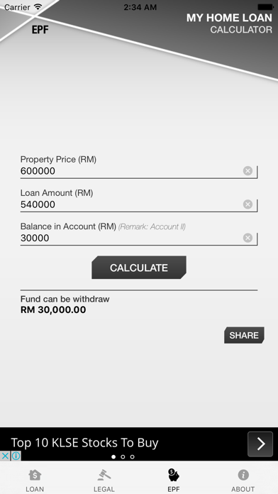 Malaysia Home Loan Calculator screenshot four