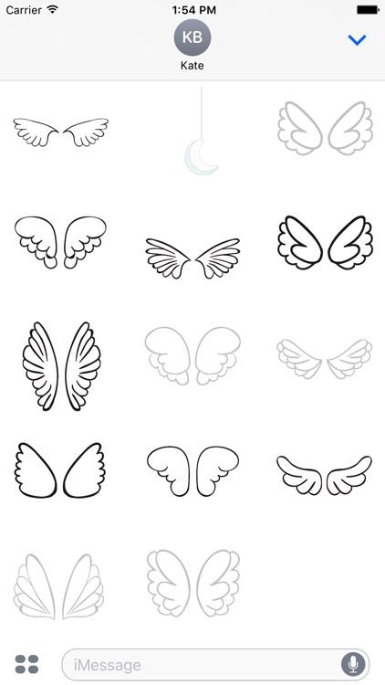 Animated Cute Angel Wing Stickers screenshot-4