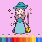 Fairy tale Coloring Pages game for kids icon