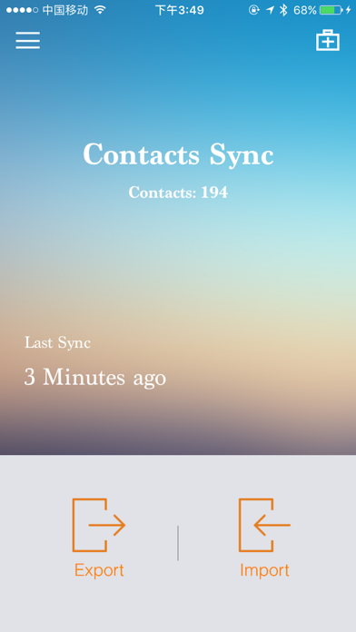 Contacts Sync-Easy Contacts Backup & Restore tools screenshot one
