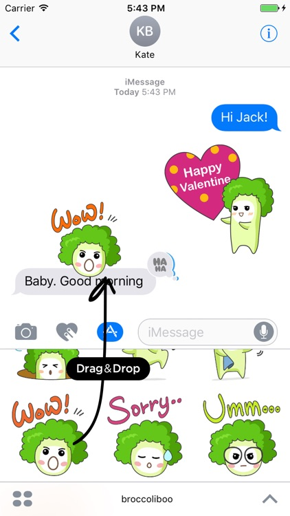 Broccoli Boo Stickers Pack for iMessage screenshot-4