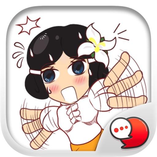 Isan Lady Stickers & Emoji Keyboard By ChatStick