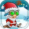 超级圣诞老人奔跑冒险在冰岛