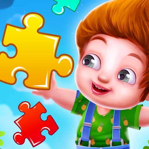 Kids Learning Jigsaw Puzzle