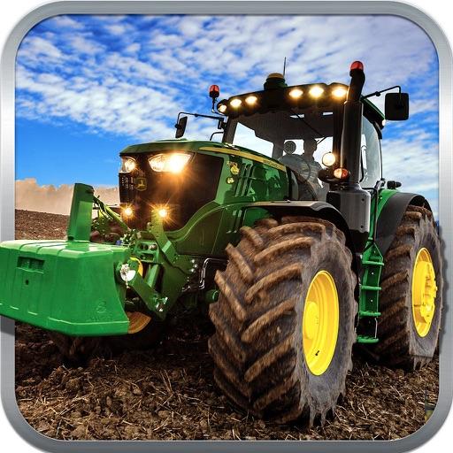 Ферма трактор урожая Нано сельского Веселая хозяйс