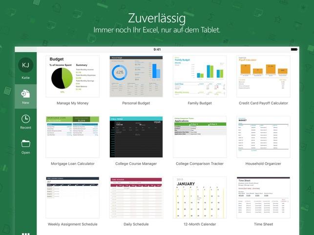 Microsoft Excel im App Store