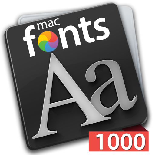 macFonts 1000 Red