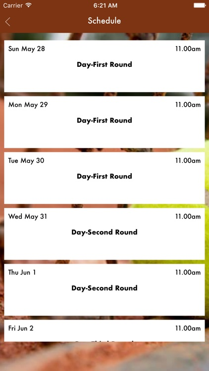 Free Schedule of French Open 2017 screenshot-1