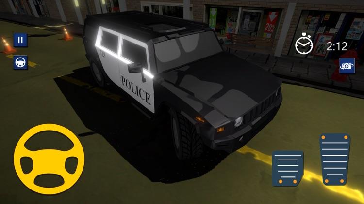3D Police Car Parking Driver screenshot-4