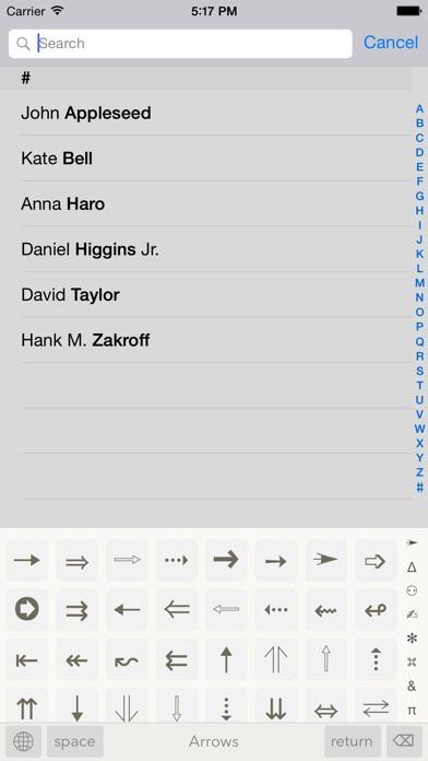 Symbols - unicode keyboard IPA Cracked for iOS Free Download