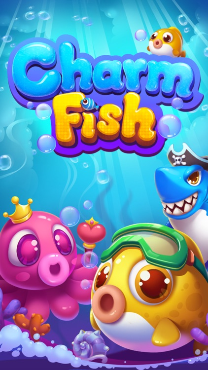Charm Fish Mania - Match 3 quest in ocean games