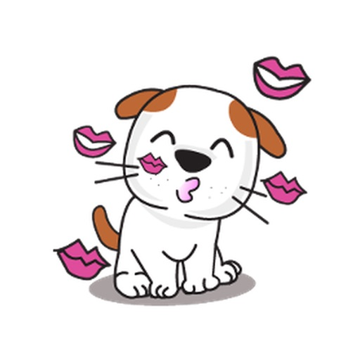 Animated Loyal And Cute Dog Stickers