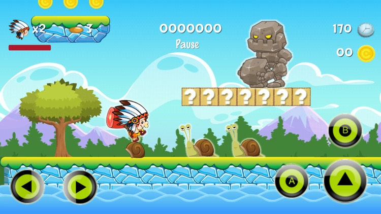 Super Neanderthal : The Heroes Of Run World Game screenshot-2