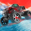 Surfing Monster Truck - 3D Wave Stunt Racing Game