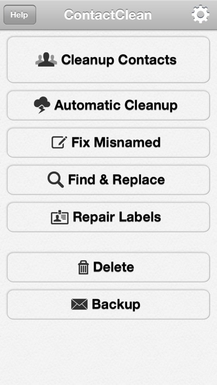 ContactClean - Address Book Cleanup & Repair