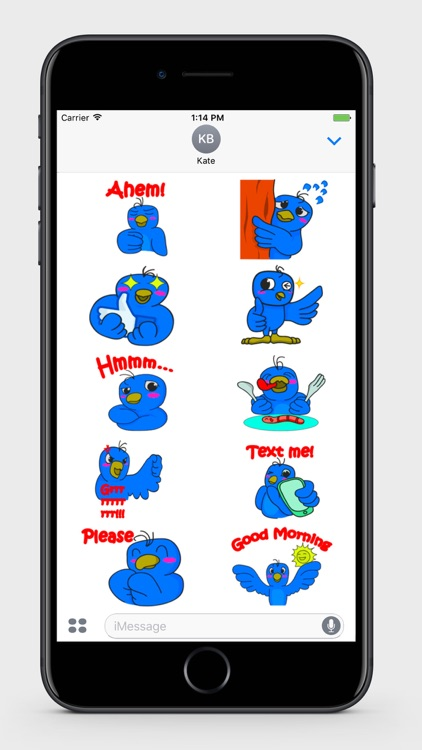 Blue Bird Stickers