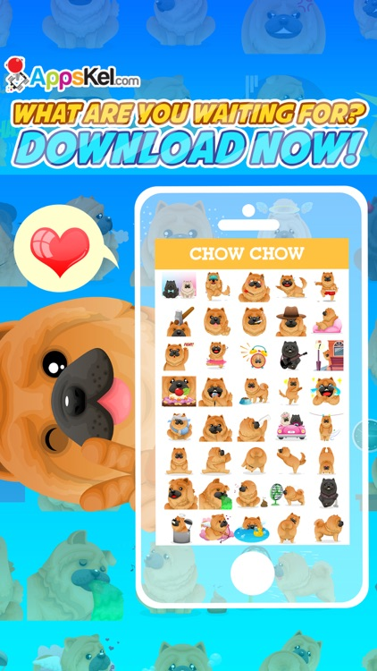 Chowmoji: Chow-Chow Dog Emoji & Stickers App screenshot-4