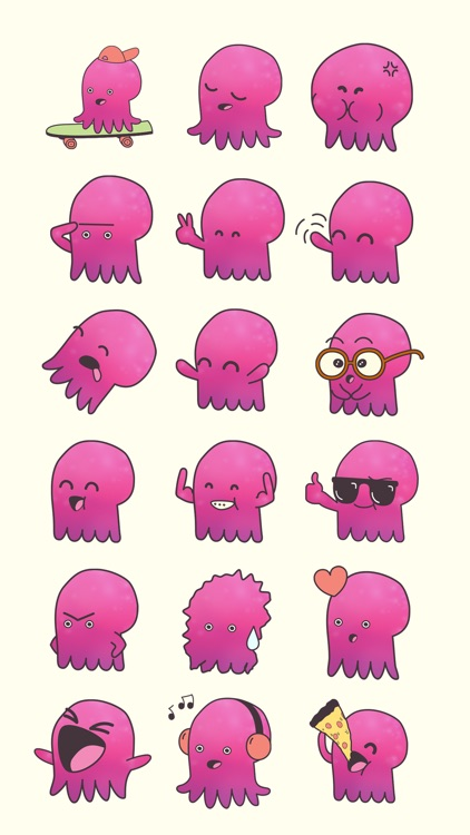 Tako the Octopus Sticker Pack