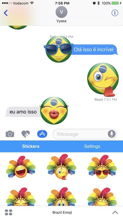 Brazil Emoji Stickers