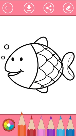 Libro Para Colorear Sobre la Vida Marina & Pescado en App Store