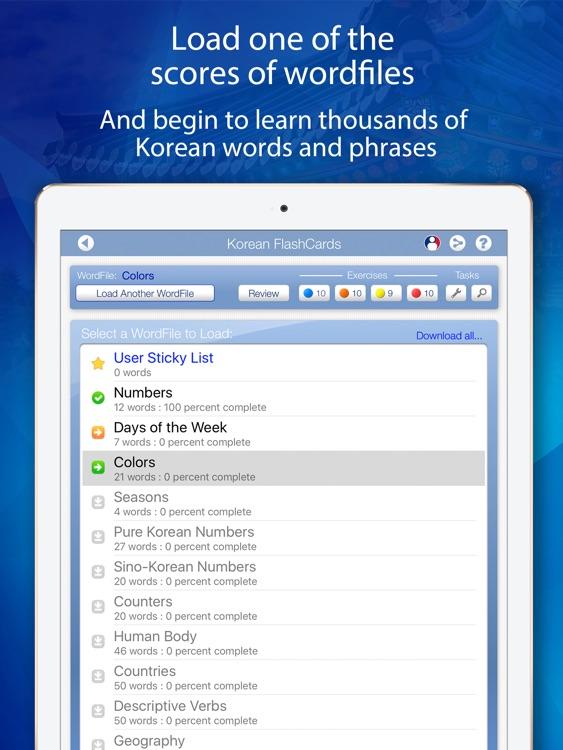 Learn Korean FlashCards for iPad