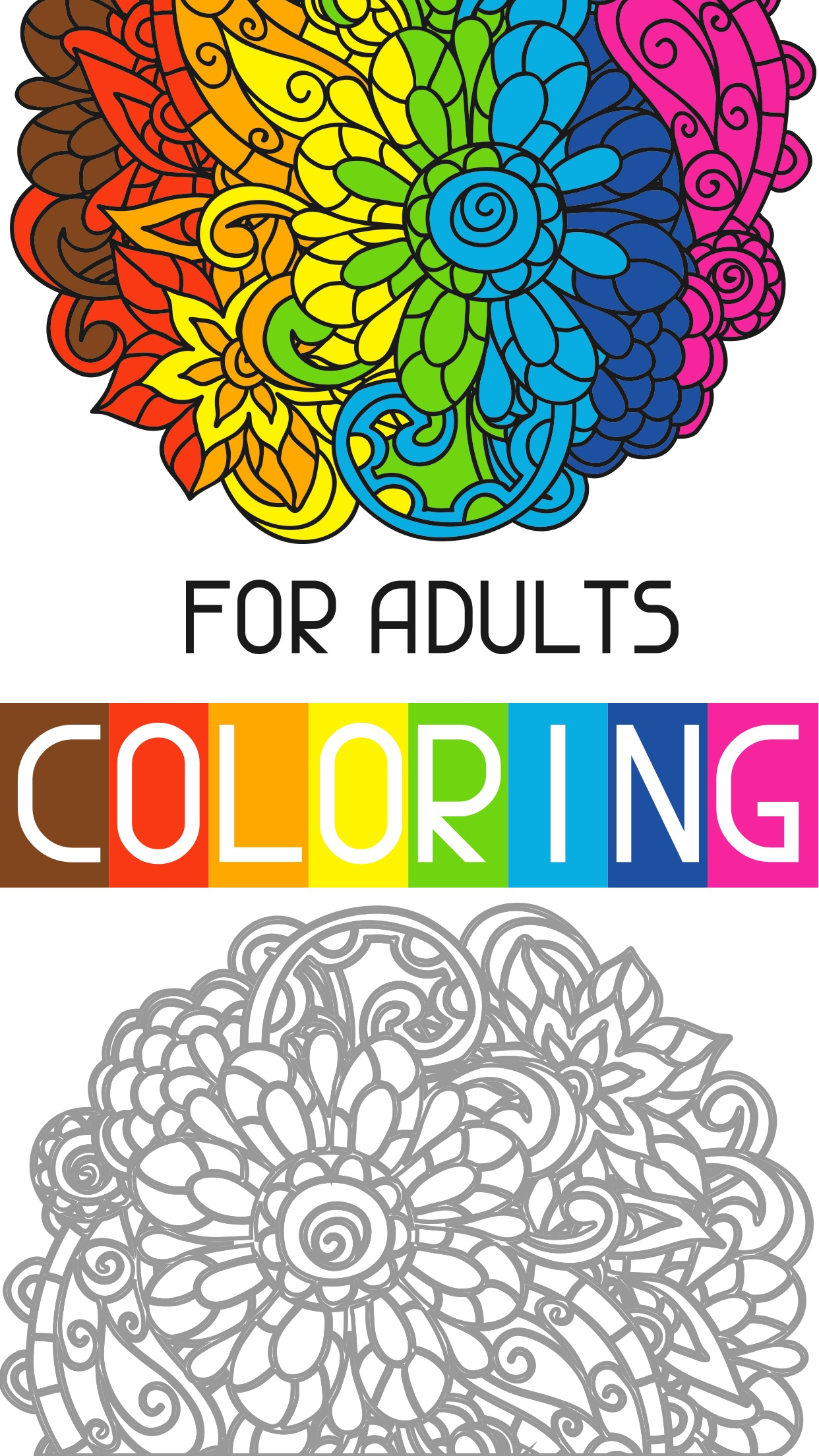 adult painting coloring pages finger paint shading Screenshot
