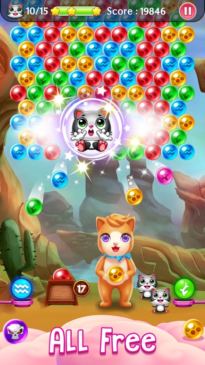 Witch Puzzle Kitty Cat Pop: Bubble Shooter Games screenshot-0