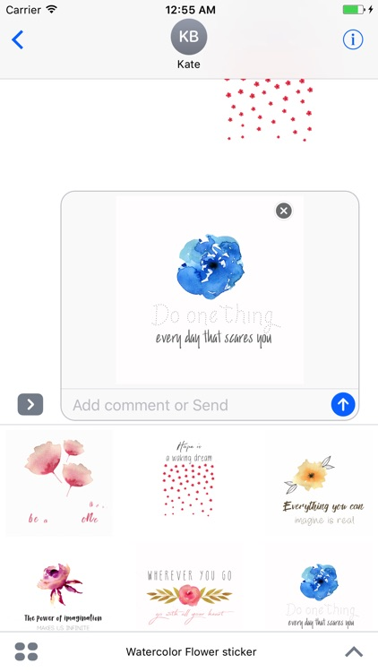 Watercolor Flower Quotes Animated Sticker