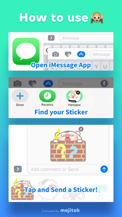 Hamjjew Animated Stickers screenshot-3