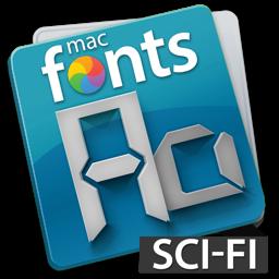 Ícone do app macFonts Sci-Fi