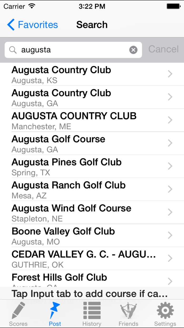 Golf Handicap Tracker & Scores Screenshot