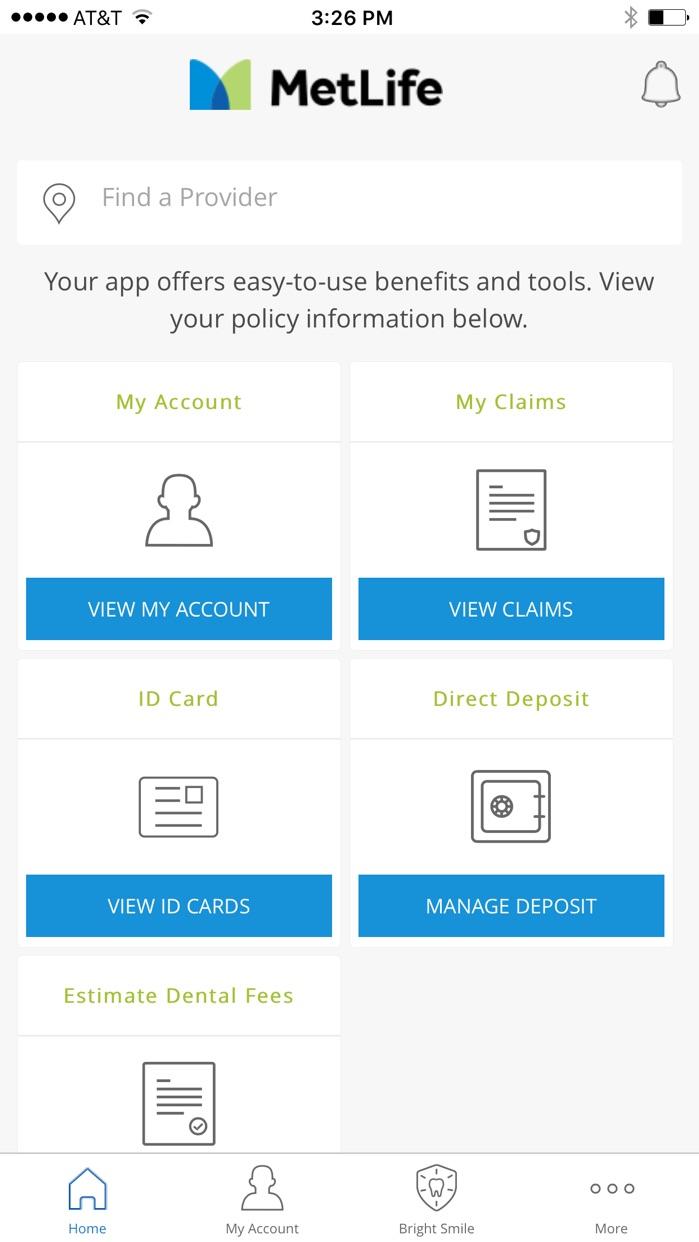 MetLife US App Screenshot