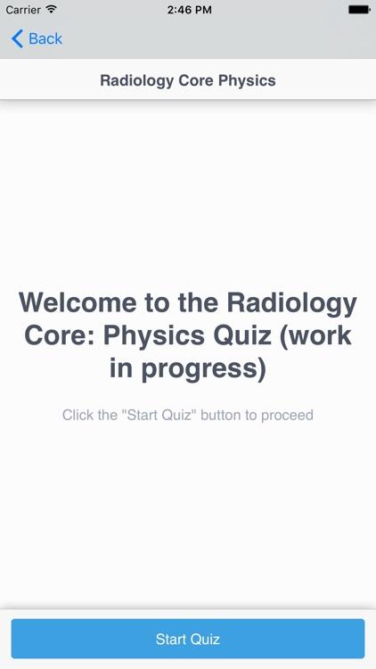 Radiology Core: Physics