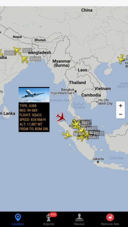 Air Tracker For Singapore Airlines