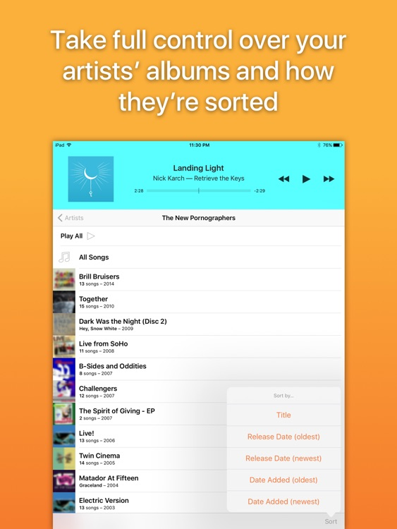 Picky Music Player for iPad screenshot-4