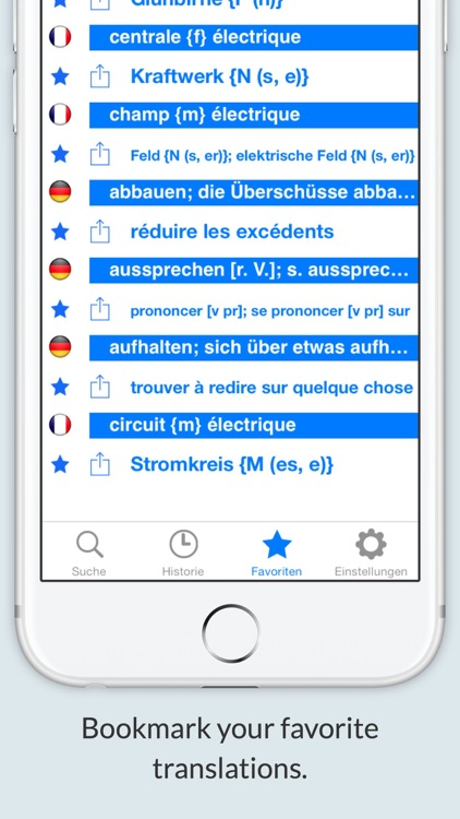 Offline German French Dictionary