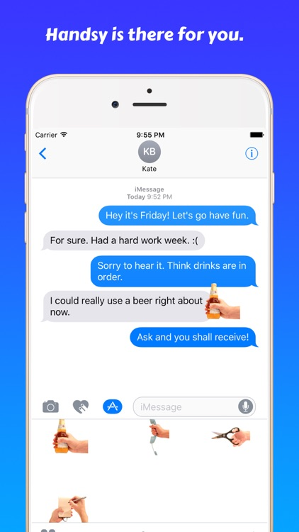 Handsy • Stickers for iMessage