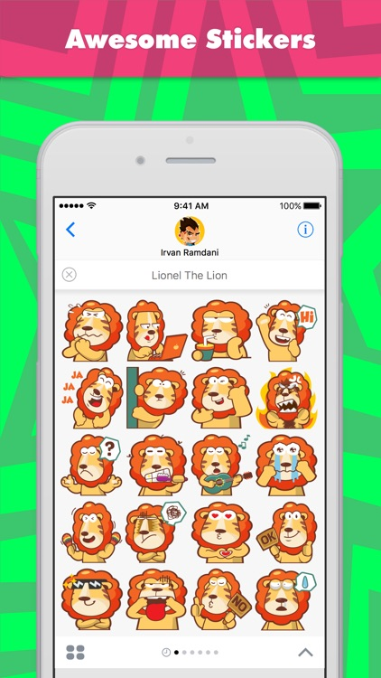 Lionel The Lion stickers by pecellele pencil