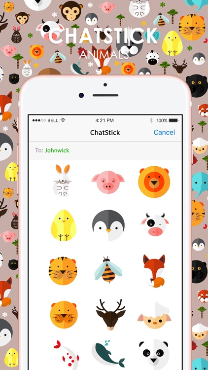 Animals Stickers & Emoji Keyboard By ChatStick