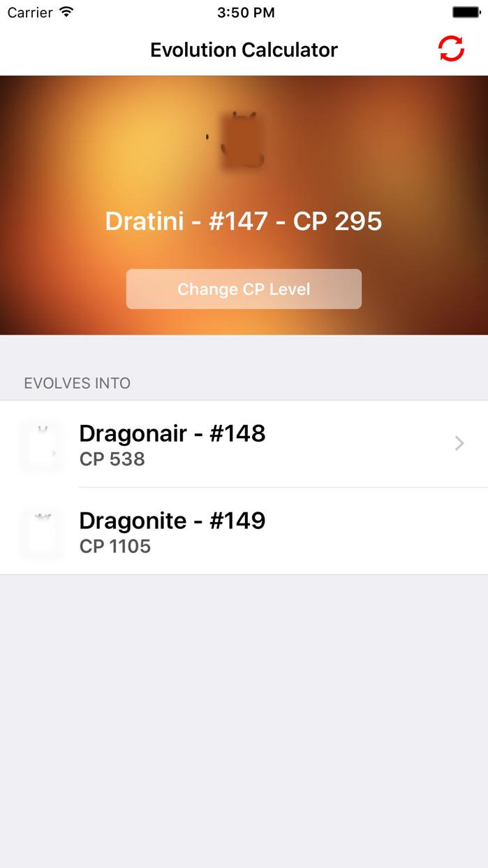 Evolution Calculator GO! Screenshot
