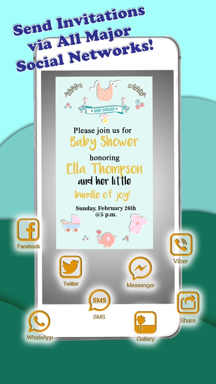Baby Shower Invitations – Personalized Card Maker screenshot-3